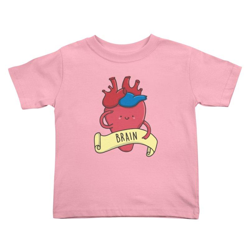 THE BRAIN Kids Toddler T-Shirt by RiLi's Artist Shop