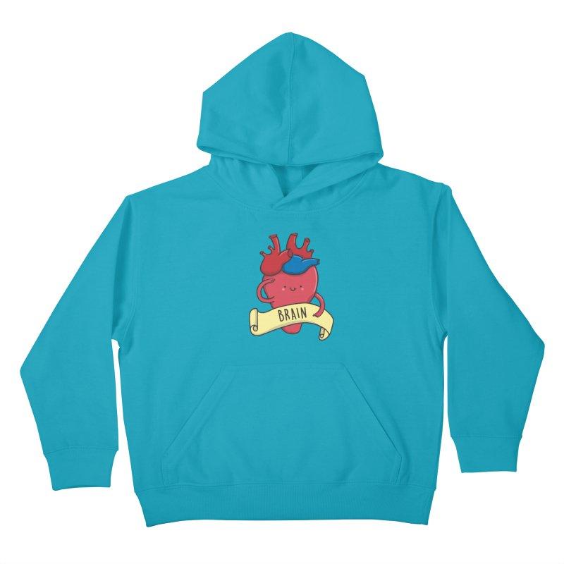 THE BRAIN Kids Pullover Hoody by RiLi's Artist Shop