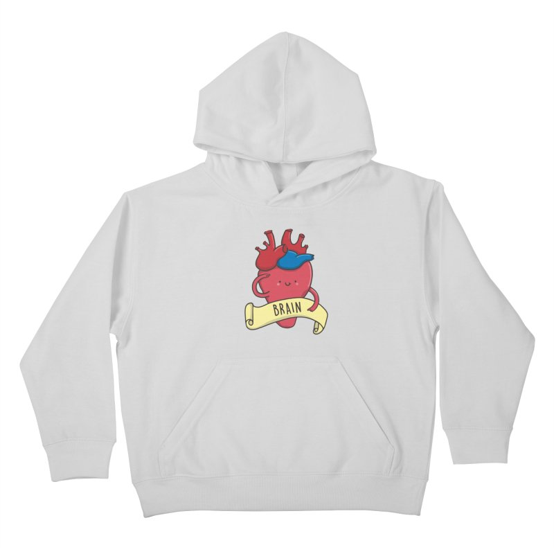 THE BRAIN Kids Pullover Hoody by RiLi's Artist Shop