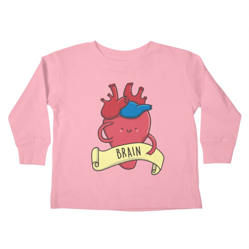 THE BRAIN Kids Toddler Longsleeve T-Shirt by RiLi's Artist Shop