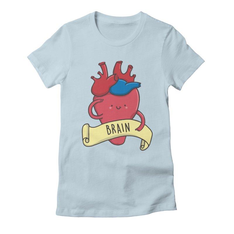 THE BRAIN Women's Fitted T-Shirt by RiLi's Artist Shop
