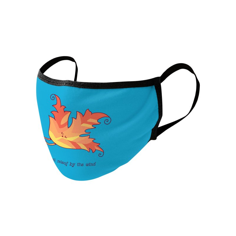 I FEEL RELEAF BY THE WIND Accessories Face Mask by RiLi's Artist Shop