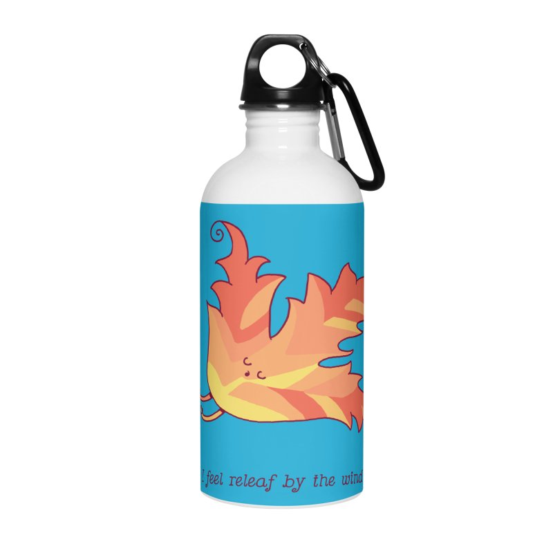 I FEEL RELEAF BY THE WIND Accessories Water Bottle by RiLi's Artist Shop
