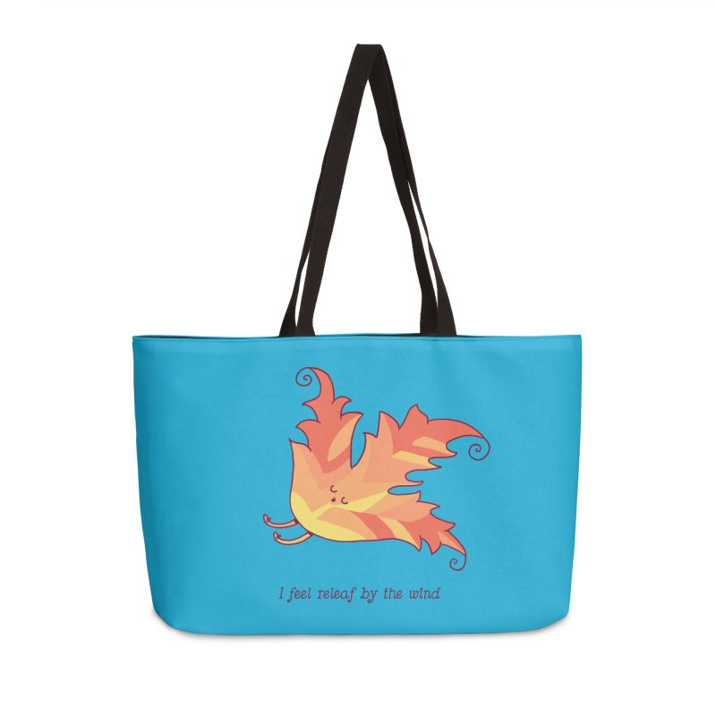 I FEEL RELEAF BY THE WIND Accessories Weekender Bag Bag by RiLi's Artist Shop