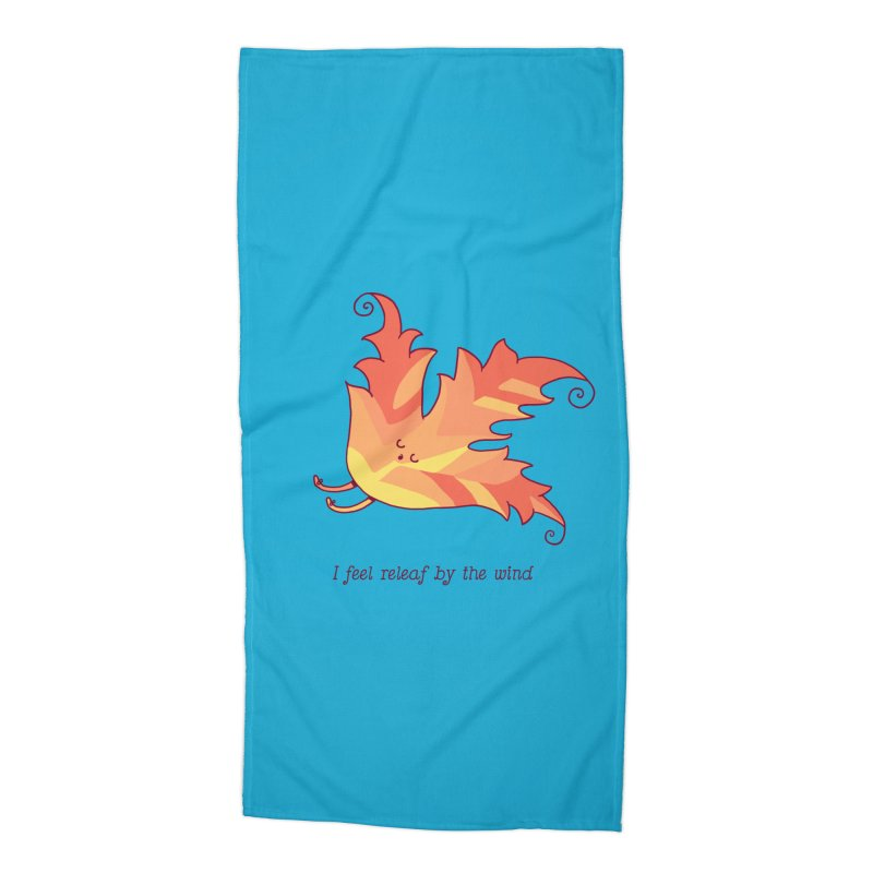 I FEEL RELEAF BY THE WIND Accessories Beach Towel by RiLi's Artist Shop