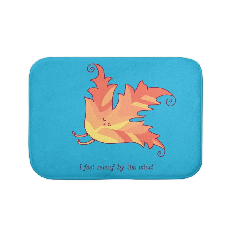 I FEEL RELEAF BY THE WIND Home Bath Mat by RiLi's Artist Shop