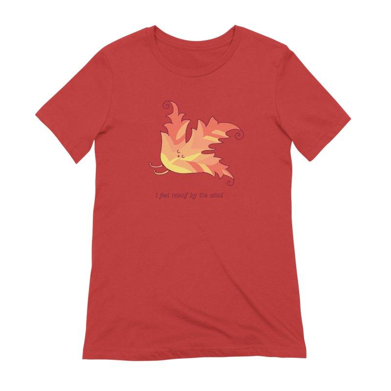 I FEEL RELEAF BY THE WIND Women's Extra Soft T-Shirt by RiLi's Artist Shop