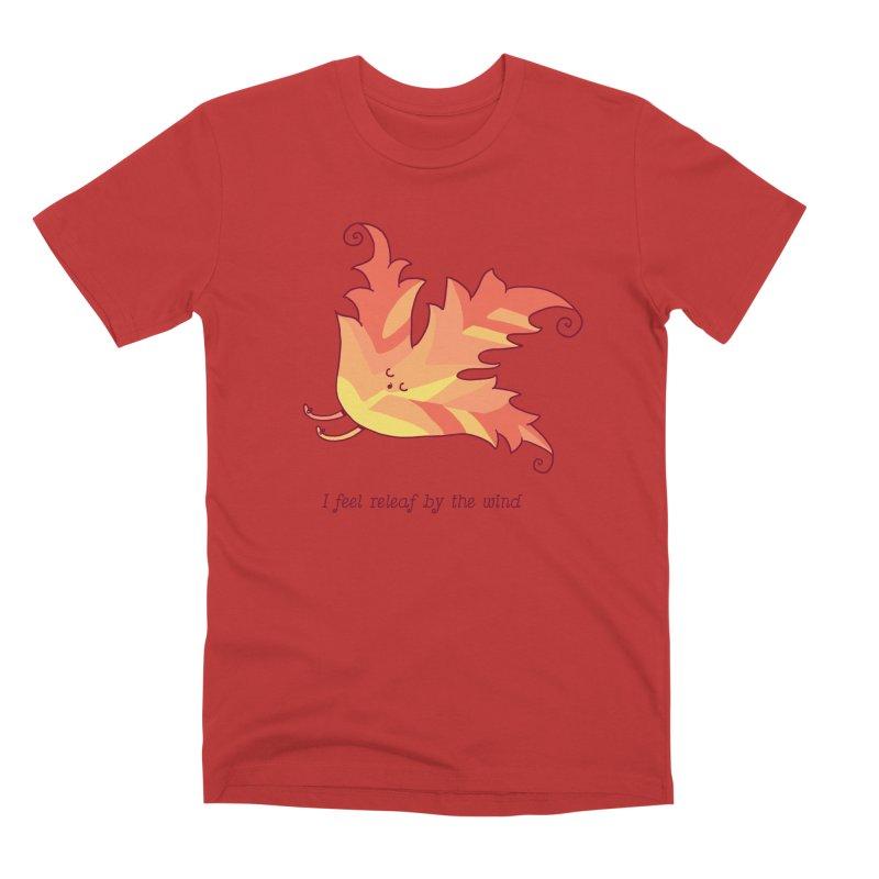I FEEL RELEAF BY THE WIND Men's Premium T-Shirt by RiLi's Artist Shop