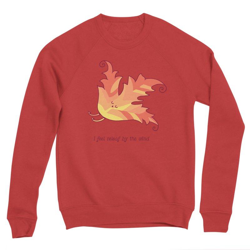 I FEEL RELEAF BY THE WIND Men's Sponge Fleece Sweatshirt by RiLi's Artist Shop
