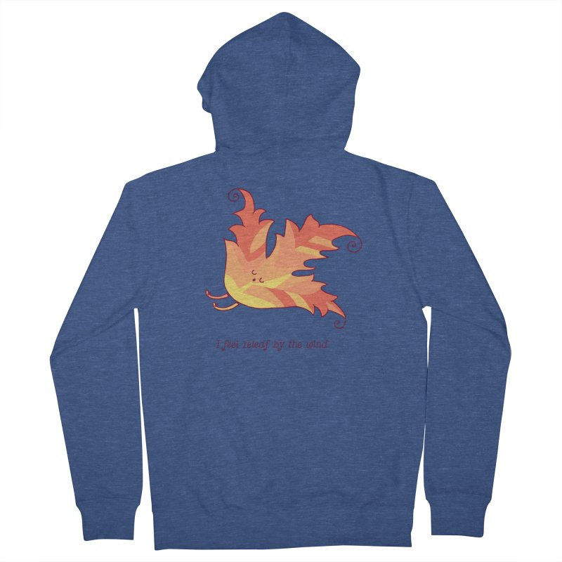 I FEEL RELEAF BY THE WIND Men's Zip-Up Hoody by RiLi's Artist Shop
