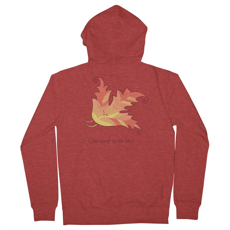 I FEEL RELEAF BY THE WIND Men's French Terry Zip-Up Hoody by RiLi's Artist Shop