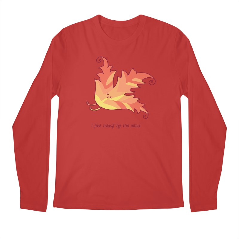 I FEEL RELEAF BY THE WIND Men's Longsleeve T-Shirt by RiLi's Artist Shop