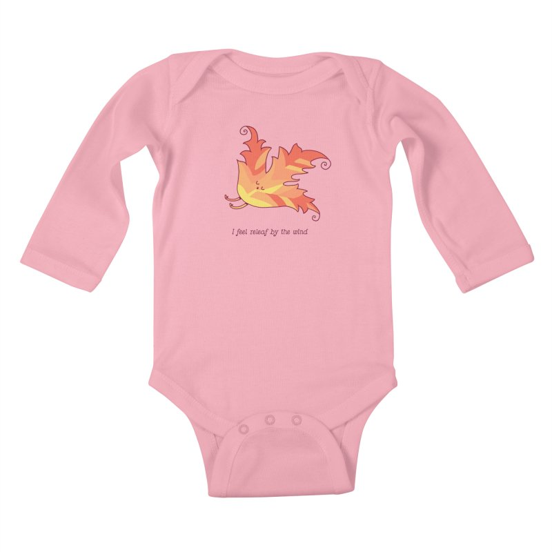 I FEEL RELEAF BY THE WIND Kids Baby Longsleeve Bodysuit by RiLi's Artist Shop