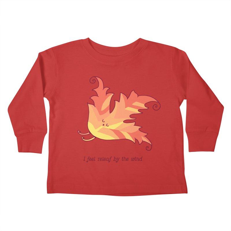 I FEEL RELEAF BY THE WIND Kids Toddler Longsleeve T-Shirt by RiLi's Artist Shop