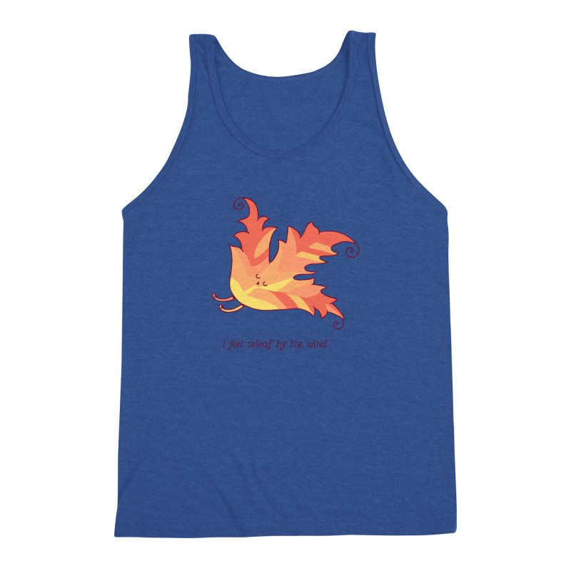 I FEEL RELEAF BY THE WIND Men's Triblend Tank by RiLi's Artist Shop