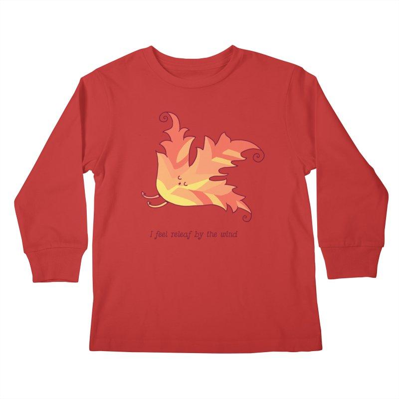 I FEEL RELEAF BY THE WIND Kids Longsleeve T-Shirt by RiLi's Artist Shop