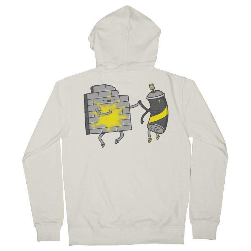 CHOOSE TO BE SUNNY Men's French Terry Zip-Up Hoody by RiLi's Artist Shop