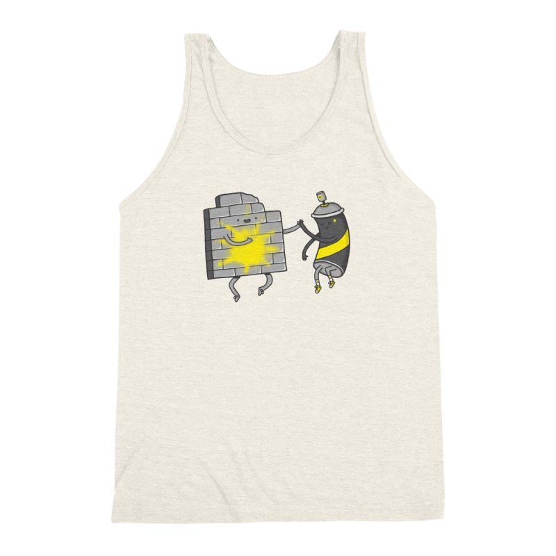 CHOOSE TO BE SUNNY Men's Triblend Tank by RiLi's Artist Shop