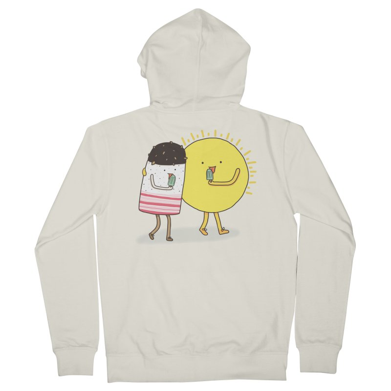 CHILLING WITH THE SUN Men's Zip-Up Hoody by RiLi's Artist Shop
