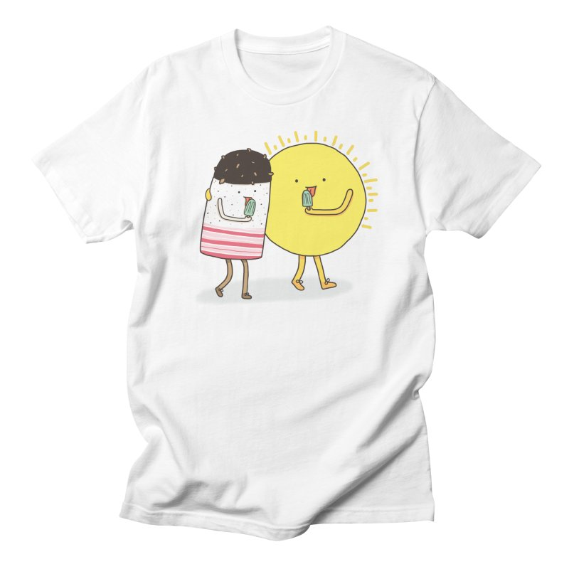 CHILLING WITH THE SUN Men's Regular T-Shirt by RiLi's Artist Shop