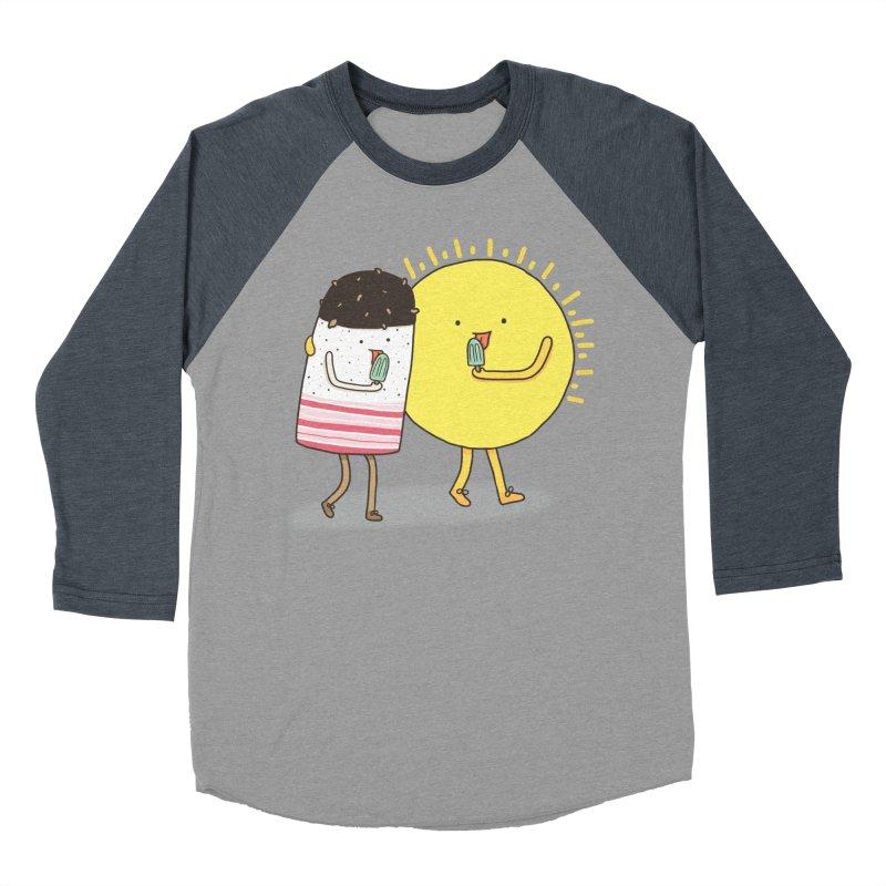 CHILLING WITH THE SUN Women's Baseball Triblend Longsleeve T-Shirt by RiLi's Artist Shop