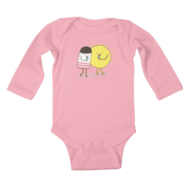 CHILLING WITH THE SUN Kids Baby Longsleeve Bodysuit by RiLi's Artist Shop