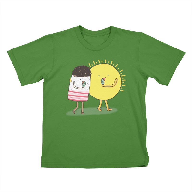 CHILLING WITH THE SUN Kids T-shirt by RiLi's Artist Shop