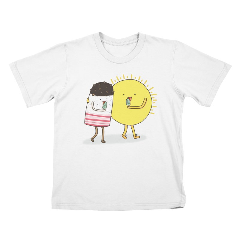 CHILLING WITH THE SUN Kids Toddler T-Shirt by RiLi's Artist Shop