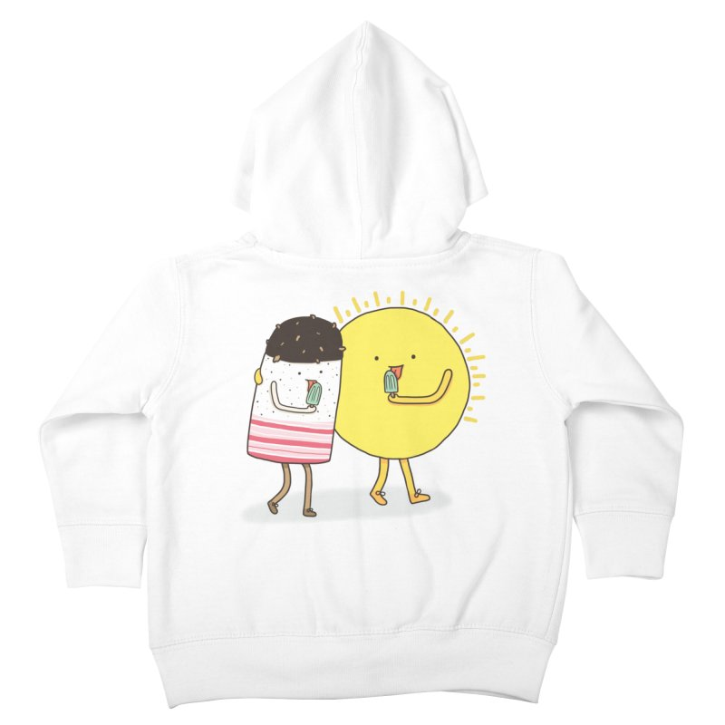 CHILLING WITH THE SUN Kids Toddler Zip-Up Hoody by RiLi's Artist Shop