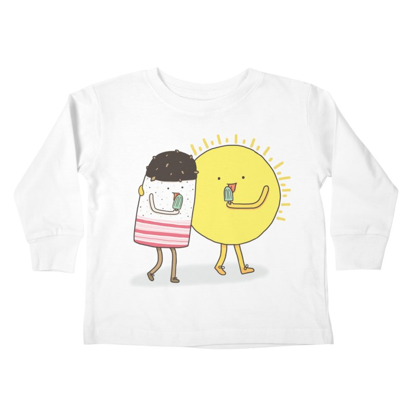 CHILLING WITH THE SUN Kids Toddler Longsleeve T-Shirt by RiLi's Artist Shop