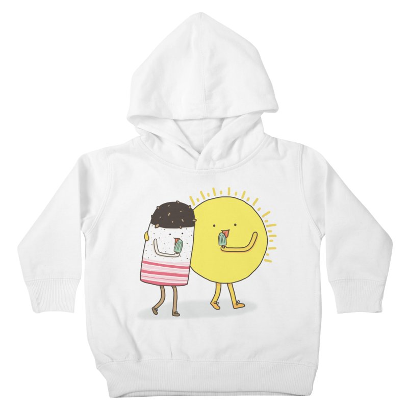 CHILLING WITH THE SUN Kids Toddler Pullover Hoody by RiLi's Artist Shop