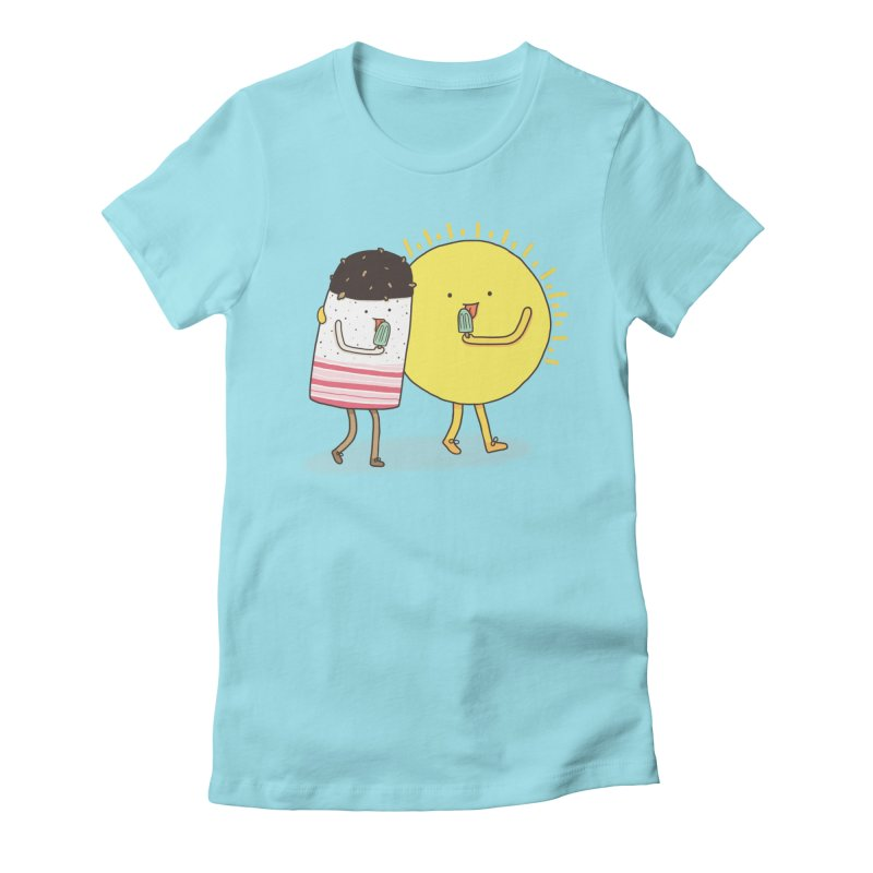 CHILLING WITH THE SUN Women's Fitted T-Shirt by RiLi's Artist Shop