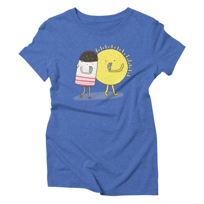 CHILLING WITH THE SUN Women's Triblend T-shirt by RiLi's Artist Shop