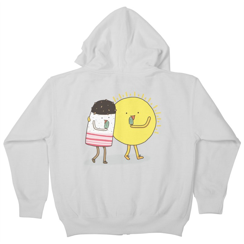 CHILLING WITH THE SUN Kids Zip-Up Hoody by RiLi's Artist Shop