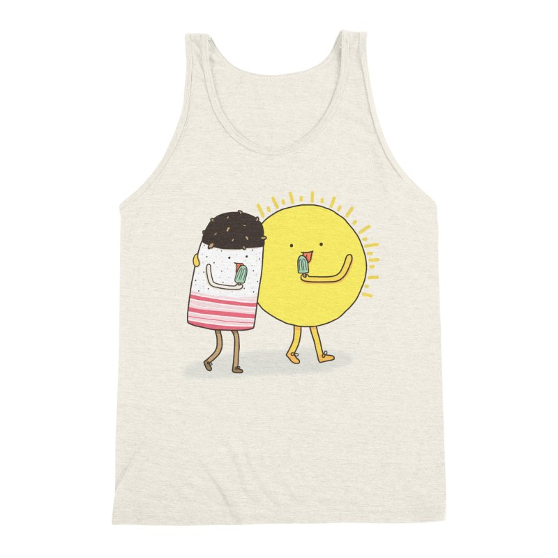 CHILLING WITH THE SUN Men's Triblend Tank by RiLi's Artist Shop