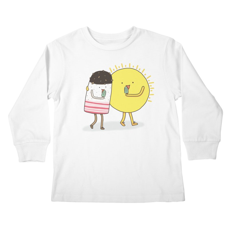CHILLING WITH THE SUN Kids Longsleeve T-Shirt by RiLi's Artist Shop