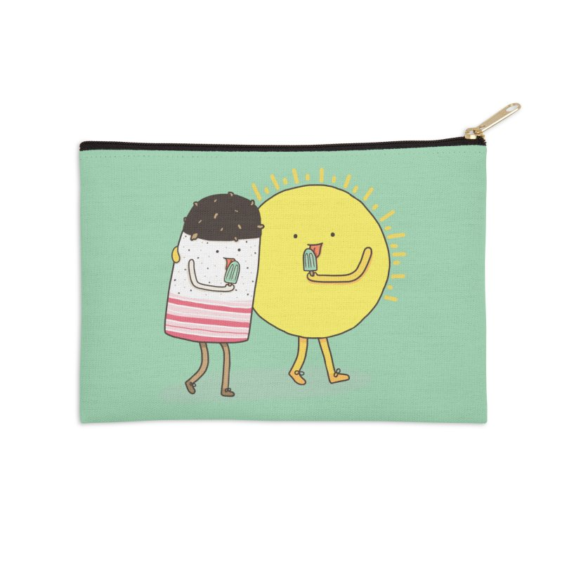 CHILLING WITH THE SUN Accessories Zip Pouch by RiLi's Artist Shop