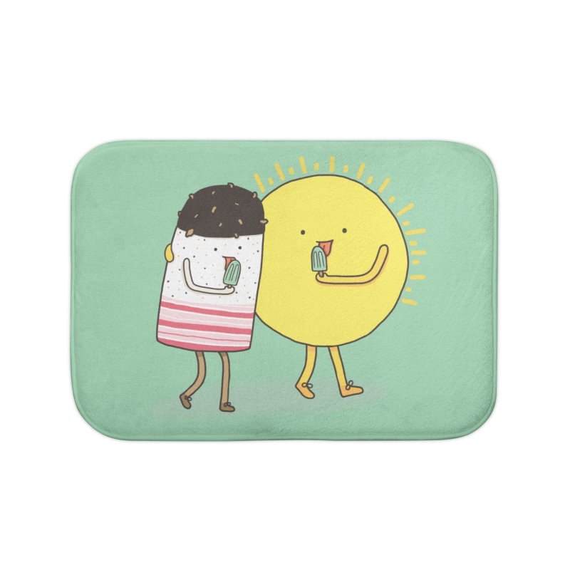 CHILLING WITH THE SUN Home Bath Mat by RiLi's Artist Shop