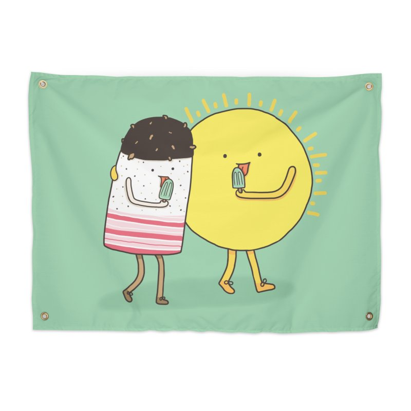 CHILLING WITH THE SUN Home Tapestry by RiLi's Artist Shop