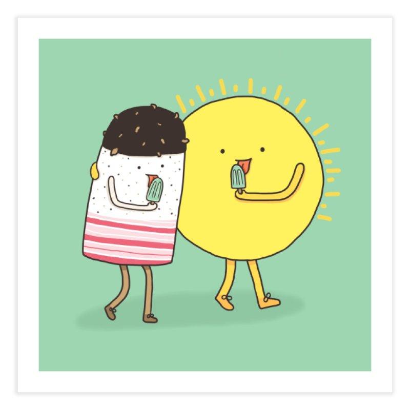 CHILLING WITH THE SUN Home Fine Art Print by RiLi's Artist Shop