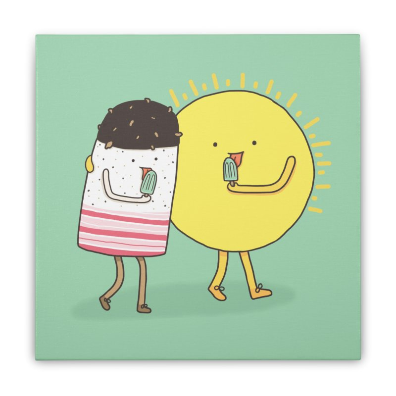 CHILLING WITH THE SUN Home Stretched Canvas by RiLi's Artist Shop