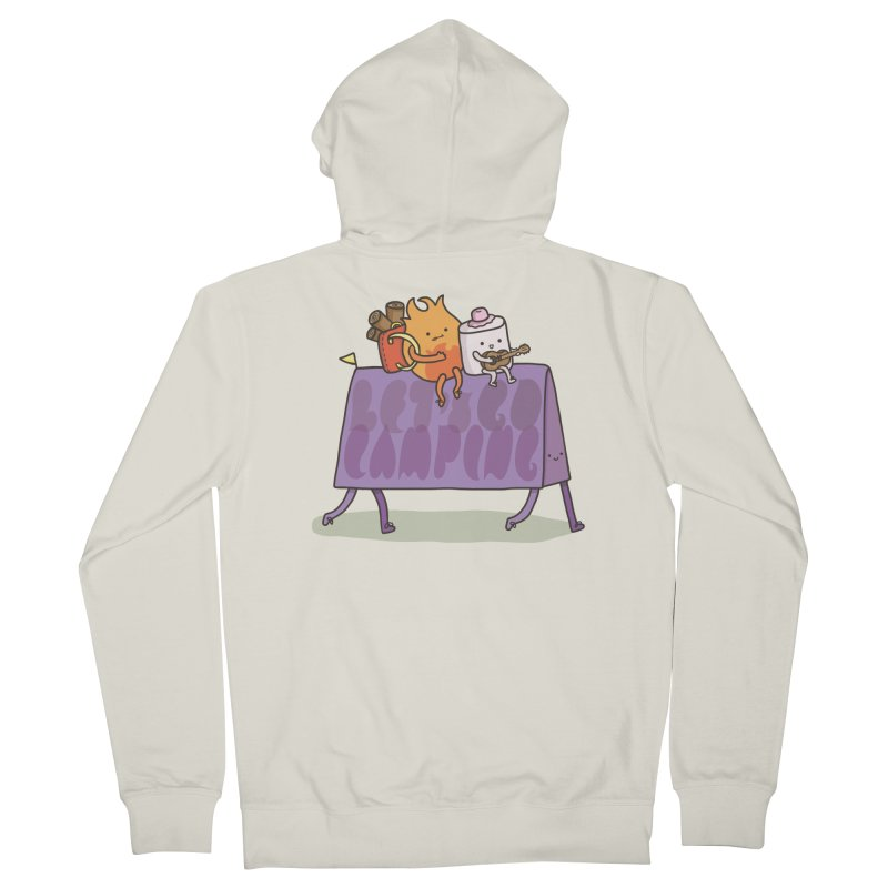 LET'S GO CAMPING  Men's Zip-Up Hoody by RiLi's Artist Shop