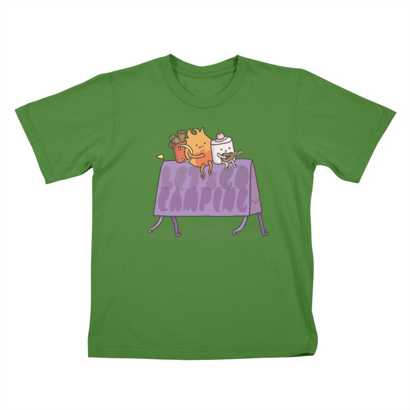 LET'S GO CAMPING  Kids T-shirt by RiLi's Artist Shop