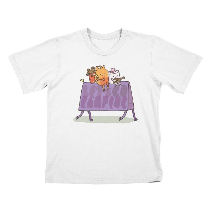 LET'S GO CAMPING  Kids Toddler T-Shirt by RiLi's Artist Shop