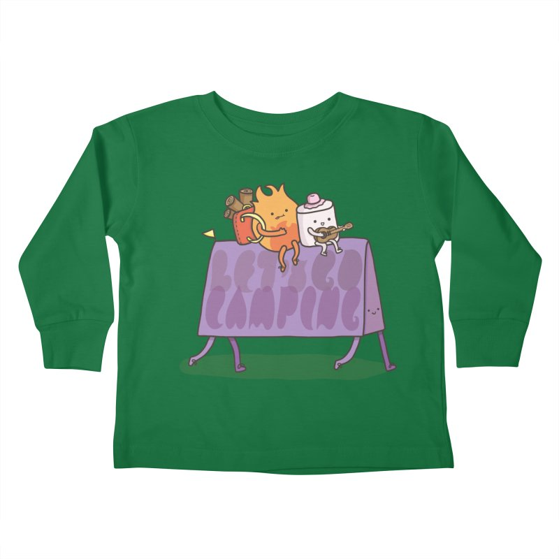 LET'S GO CAMPING  Kids Toddler Longsleeve T-Shirt by RiLi's Artist Shop