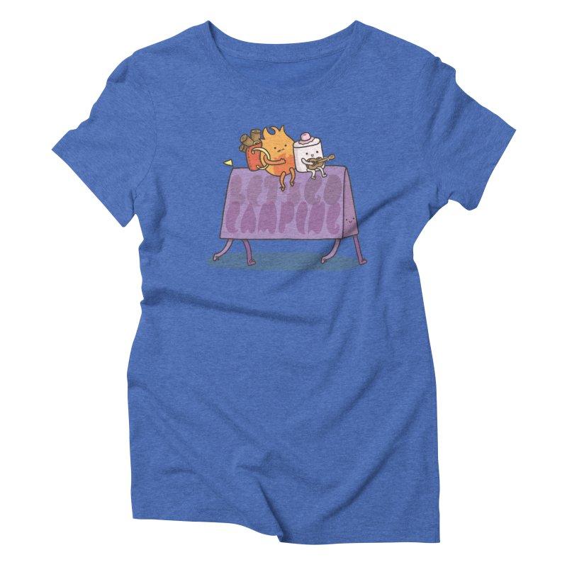 LET'S GO CAMPING  Women's Triblend T-shirt by RiLi's Artist Shop