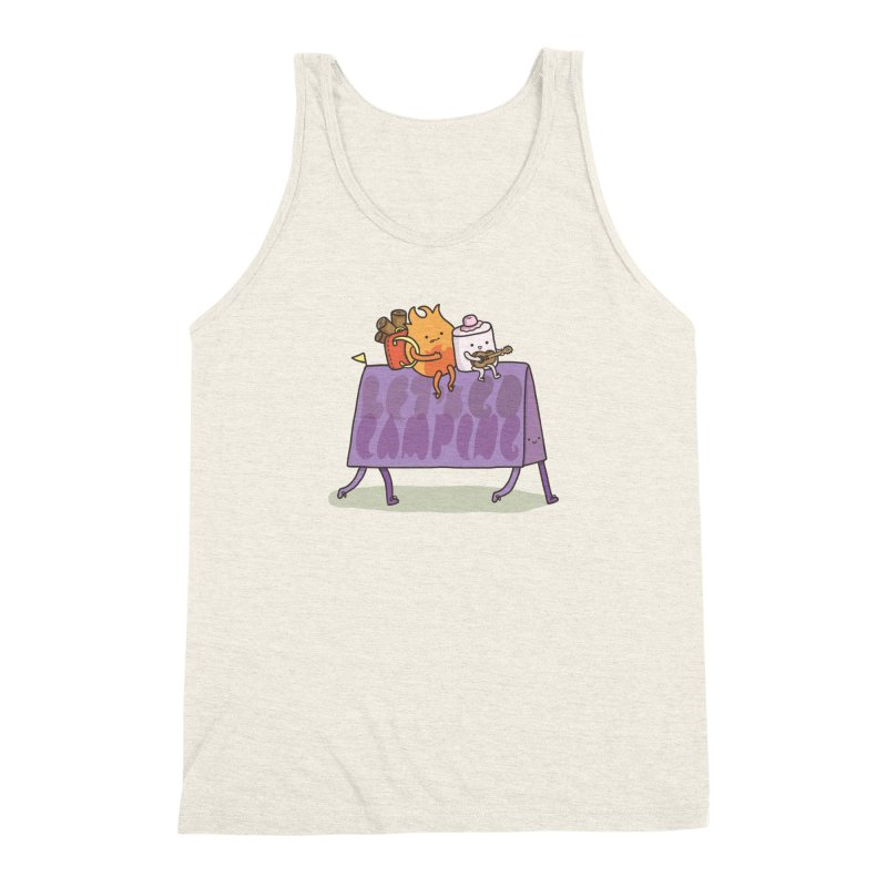 LET'S GO CAMPING  Men's Triblend Tank by RiLi's Artist Shop