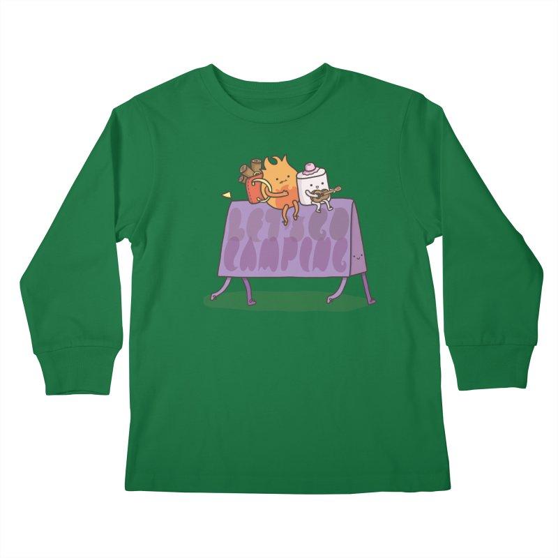 LET'S GO CAMPING  Kids Longsleeve T-Shirt by RiLi's Artist Shop