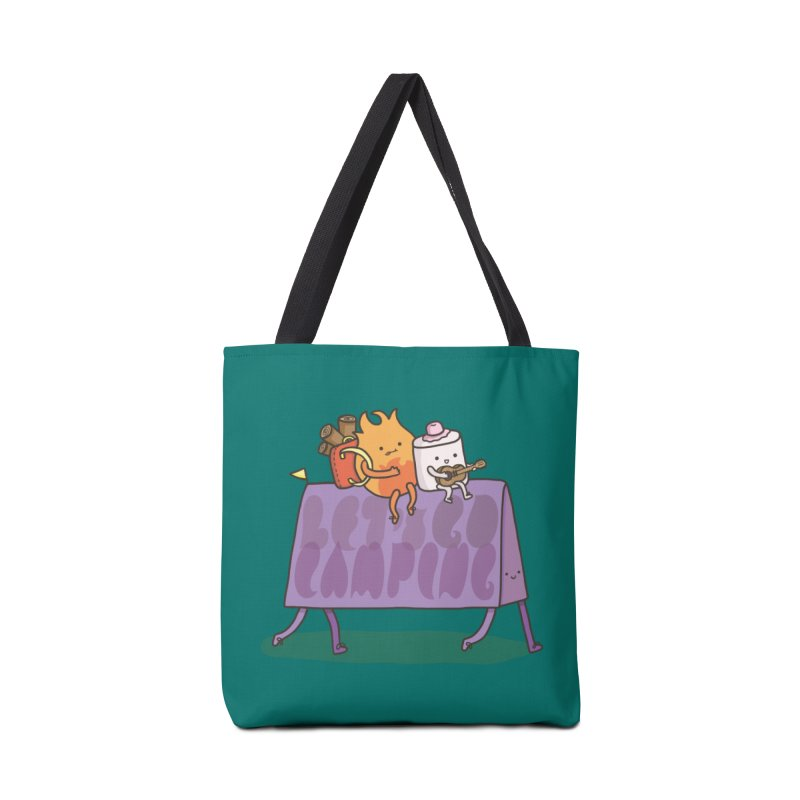 LET'S GO CAMPING  Accessories Bag by RiLi's Artist Shop