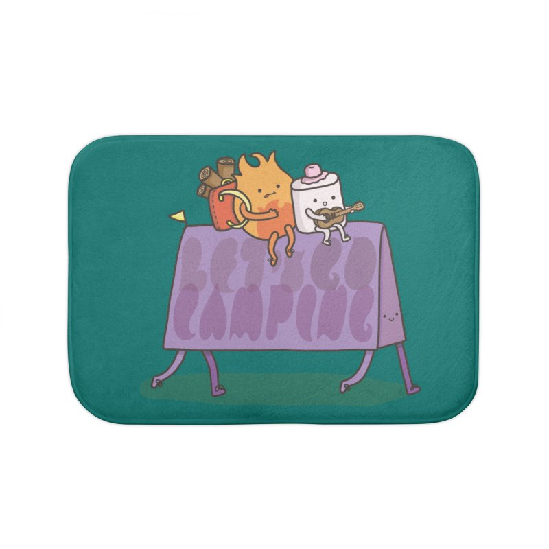 LET'S GO CAMPING  Home Bath Mat by RiLi's Artist Shop